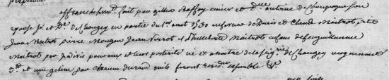 1530 Affranchissement des Maitrot de Chaugey