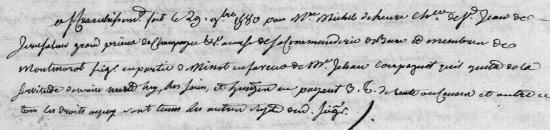 1580 Affranchissemenrt de Jean Compagnot de Minot