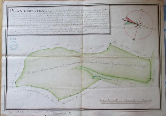 Étaules Plan géométral des bois de la réserve en 1756